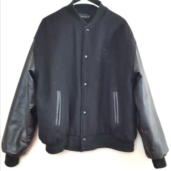 Mercedes Benz Other - Mercedes Benz Jacket Size XL Leather and Wool